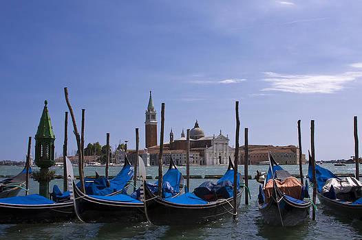Gondolas by the Grand Canal by Trevor Buchanan