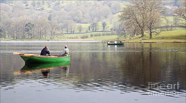 Gone Fishing Esthwaite Water by George Hodlin