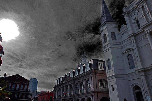 Gothic St Louis Cathedral by Suzanne Clark