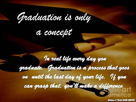 Graduation is only a concept RAW by Catherine Herbert
