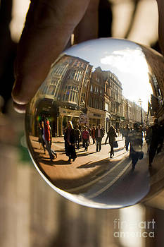 Grafton Street Dublin through a crystal ball by Catherine MacBride