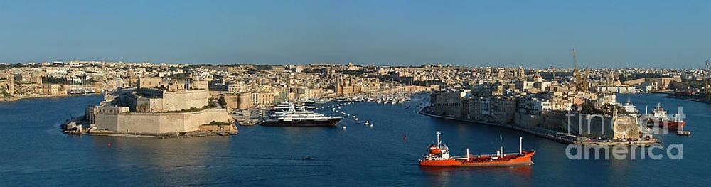 Grand Harbour of Valletta in Malta by Mary Attard