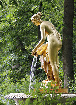 Grand Palace Garden Statue Peterhof by Jennifer Kathleen Phillips