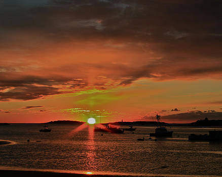 Grand Sunrise At Ellis  by Jeremy McKay