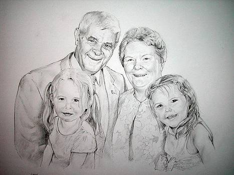 Grandparents And Granddaughters by Gill Kaye