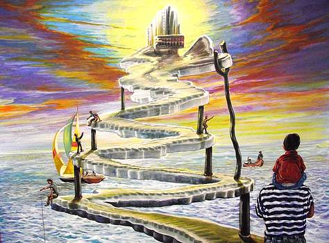 Grandpas Weird Stairway by Joe Santana