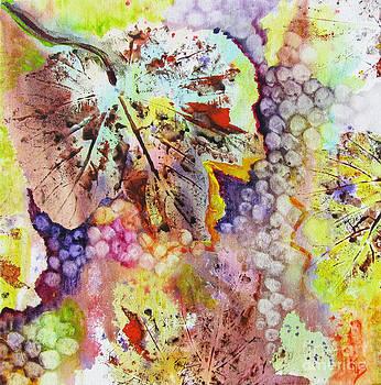 Grapes and Leaves VI by Karen Fleschler