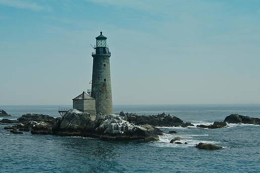 Graves Light Boston Harbor by Peggie Strachan