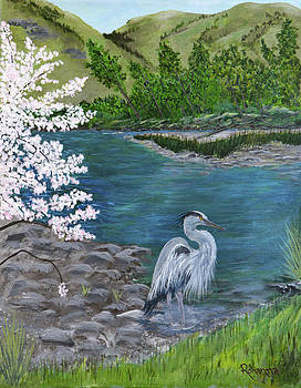 Great Blue Heron by Judy M Watts-Rohanna