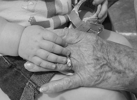 Great Grandmother and Isabell's Handsa Hands by Jeannie  Walker
