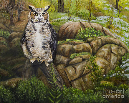 Great Horned Owl by Gail Darnell