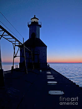 Tim Mulina - Great Lakes Lighthouse at Sunset