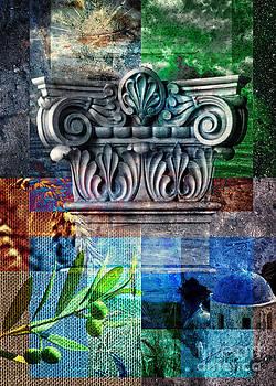 Greek Corinthian pillar by Pavlos Vlachos