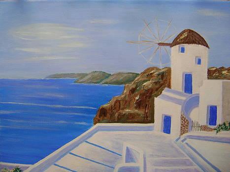 Greek island by Manolia Michalogiannaki