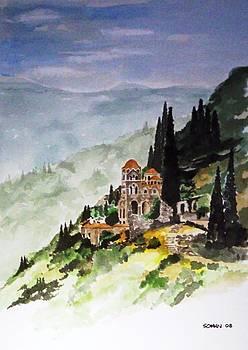 Greek monastery by Samir Sokhn