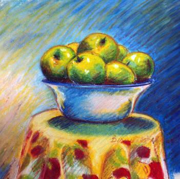 Green Apples by Bernadette Kazmarski