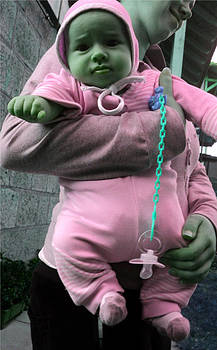 Green baby  by Elena V