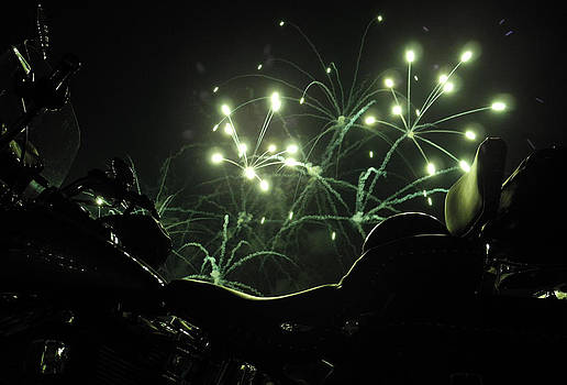 Green Fireworks over a Soft Tail by Tobey Brinkmann