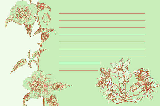 Green Floral Card by Dana Vogel