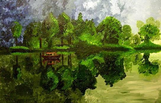 Green lake by Mats Eriksson