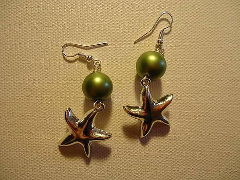 Green Starfish Earrings by Jenna Green