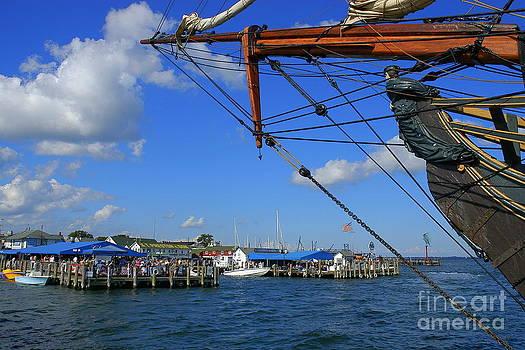 Greenport Harbour by Curtis Brackett
