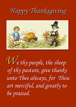 Greeting Card - Thanksgiving - Religious by Peri Craig