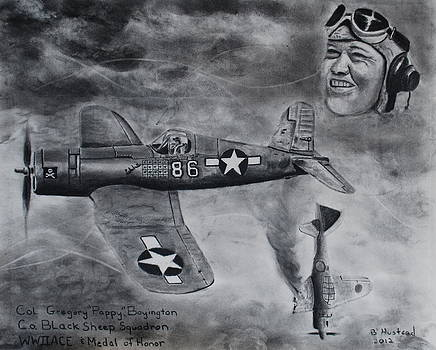 Gregory Pappy Boyington by Brian Hustead