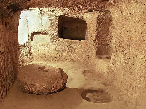 Kantilal Patel - Grindstone in Underground Caves Derinkuyu