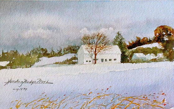 Groton Farm Winter II by Harding Bush