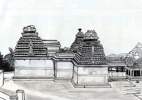 Group of Jain Temples Hampi by Shashi Kumar