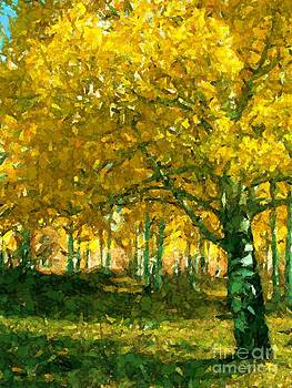 Grove of Aspens by Annie Gibbons