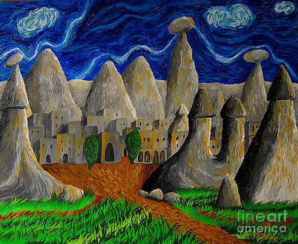 Growing city of the rocks  by Gunes Yilmaz