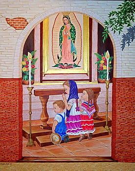 Guadalupe y ninos by Evangelina Portillo
