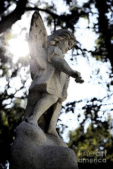 Guardian Angel with light from above by Nina Prommer