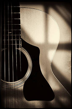 Guitar in Sepia by Sandra Sigfusson