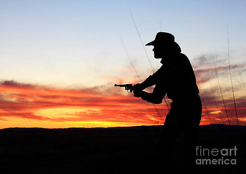 Gunslinger Sunset by Val Armstrong