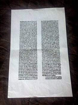Glenn Bautista - Gutenberg Print - by Rusty