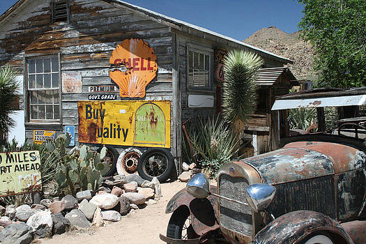 Hackberry Signs   Arizona route 66 by Frank Morales Jr
