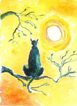 Halloween Black Kitty Cat by Marsden Burnell