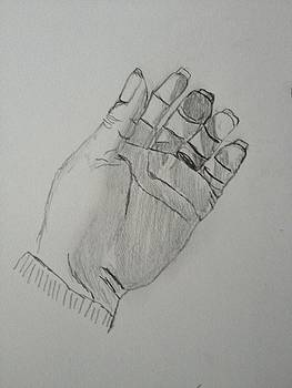 Hand With Foreshortening by Jennifer Woodworth