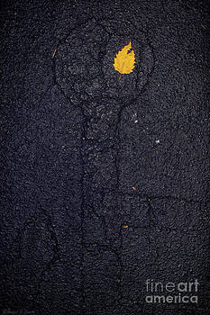 Warren Sarle - Handicapped Parking with Yellow Leaf