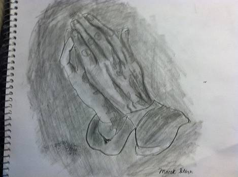 Hands folded in prayer  by David Stich