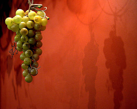 Hanging Grapes On The Wall by Jale Fancey
