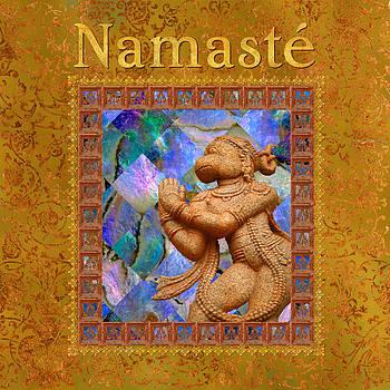 Hanuman with Namaste by Susan Ragsdale