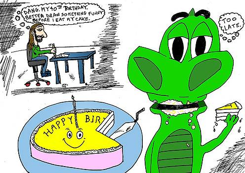 Happy 40th Birthday Cartoon by Yasha Harari