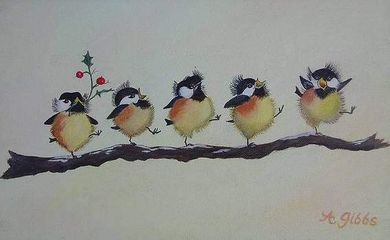 Happy Chicadees by Arlene Gibbs