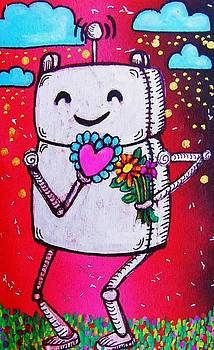 Happy Robot Friend by Nancy Mitchell