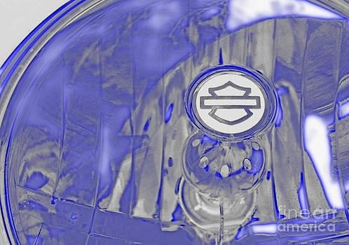 Harley Davidson Headlight by Glennis Siverson
