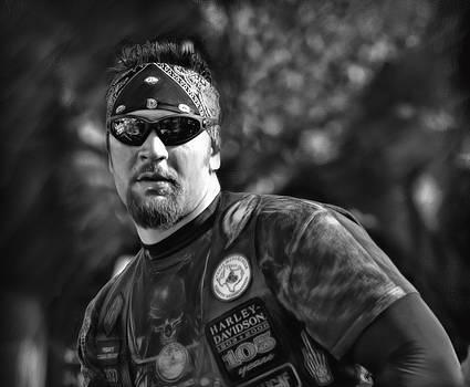 Harley Davidson man by Hazel Billingsley